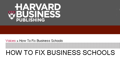 how to fix Business Schools